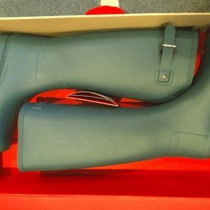 NEW Tall Hunter Rain Boots Refined Blue 7 8 9